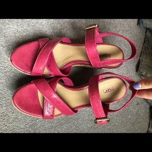 UGG Shoes - Pink Ugg Wedges